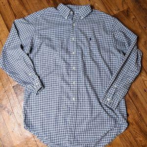 Ralph Lauren Blue & White Plaid Button Down